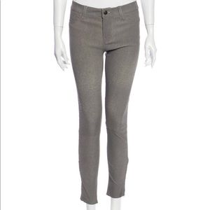Leather stretch skinny jeans by j brand